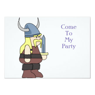 """Vikie the Viking"" Party Card"