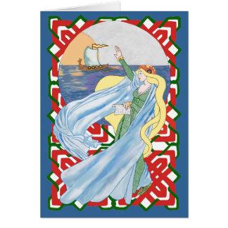 Viking Adieu Missing You! Greeting Card