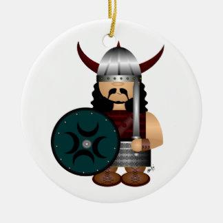 Viking Adorno Navideño Redondo De Cerámica