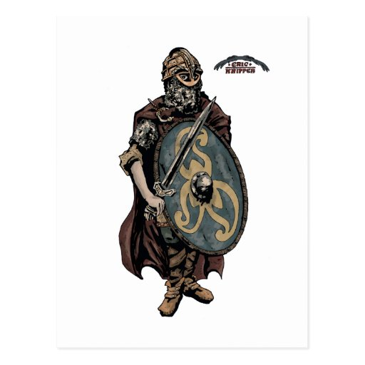 Viking age king of the danes postcards