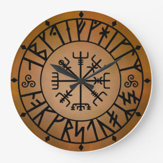 Viking Alphabet Large Clock