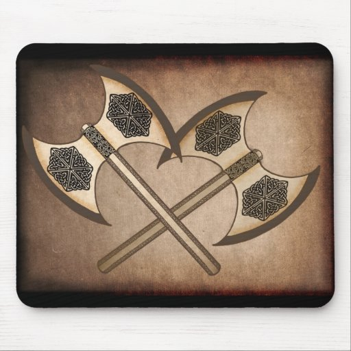 Viking axe's mouse pad