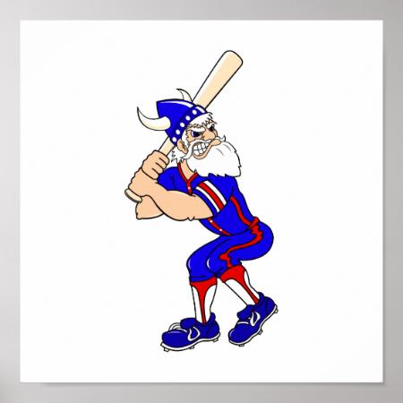Viking Baseball Player Posters