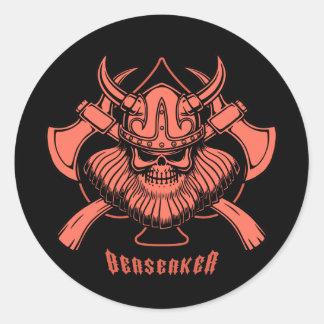 Viking Berserker Classic Round Sticker