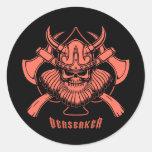 Viking Berserker Etiqueta Redonda