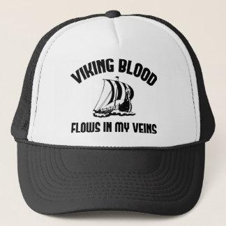 Viking Blood Flows In My Veins Trucker Hat