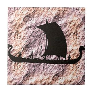 viking boat ceramic tile