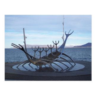 Viking Boat Postcard