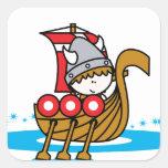 Viking Boy Square Sticker