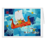 Viking Bunnies in Outer Space Greeting Card