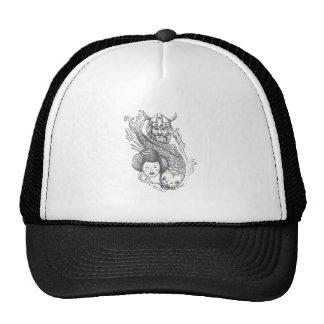 Viking Carp Geisha Head Tattoo Trucker Hat