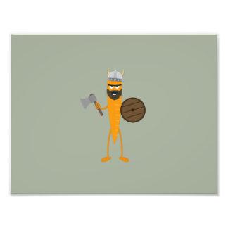 Viking carrot photo print