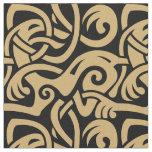 Viking Celtic Intertwining Animal Pattern Fabric