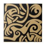 Viking Celtic Intertwining Animal Pattern Tile