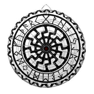Viking Celtic Sun Rune Calendar Dart Board