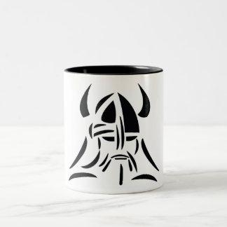 Viking coffee cup Two-Tone coffee mug