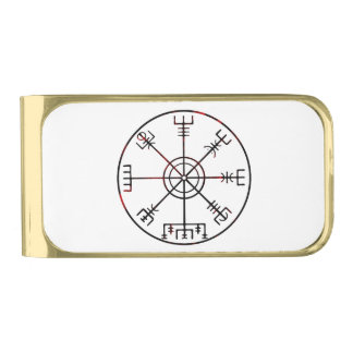 viking compass s6 poster gold finish money clip