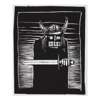 Viking con la espada poster