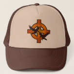 "Viking Cross Hat<br><div class=""desc"">Colorful Viking Cross Design  With Odins Ravens,  Huginn (thought)- Muninn (memory)...  Change Hat Colors To Your Taste... </div>"