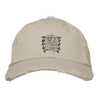 Viking dragon knot embroidered baseball hat