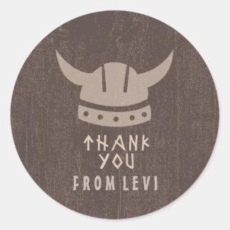 Viking & Dragon Thank You Sticker