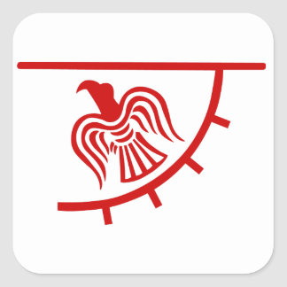 Viking Eagle Banner Square Sticker