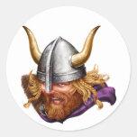 Viking, el nórdico, Norsemen Pegatina Redonda