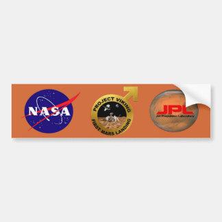 Viking: ¡El primer aterrizaje en Marte! Etiqueta De Parachoque