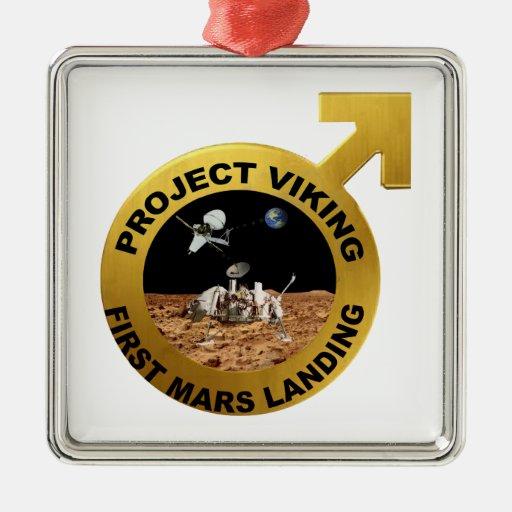 Viking: ¡El primer aterrizaje en Marte! Ornamentos De Navidad