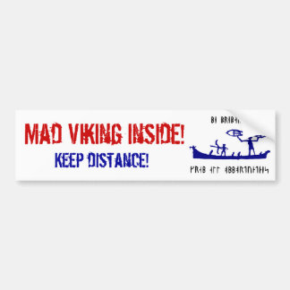 Viking enojado Bumpersticker Pegatina Para Auto