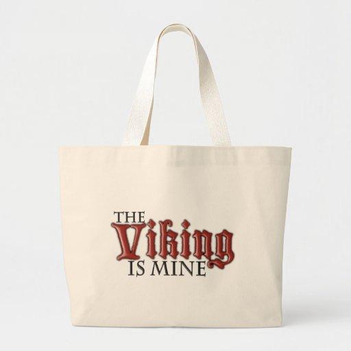 Viking es el mío bolsa tela grande