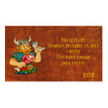 Viking Feast RSVP Card Business Cards