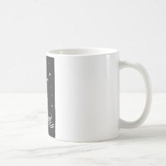 Viking Funeral at Night Coffee Mug