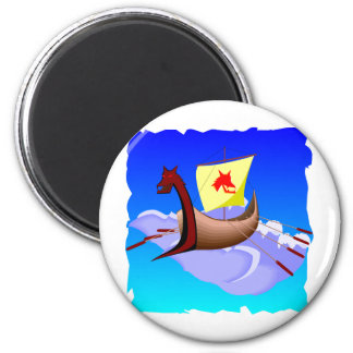 Viking Galley Ship  #001 Magnet