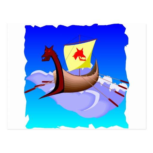 Viking Galley Ship  #001 Post Cards