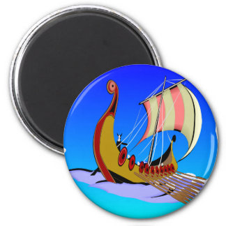 Viking Galley Ship   #002 Magnet