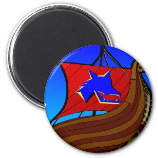 Viking Galley Ship   #003 2 Inch Round Magnet