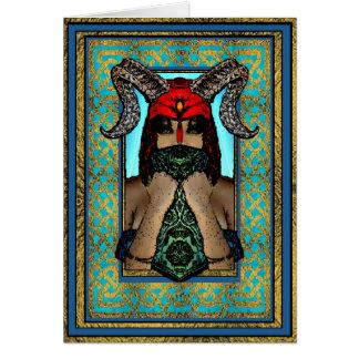 Viking Goddess Greeting Card