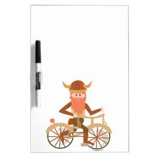 Viking Gone Biking Dry Erase Board