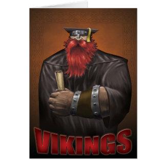 Viking Graduation Card Black