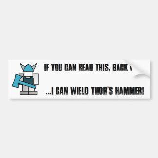 Viking Hammer Bumper Sticker