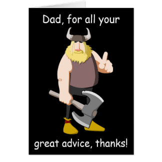 Viking Happy Father's Day Card