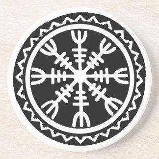 Viking Helm of Awe Drink Coasters