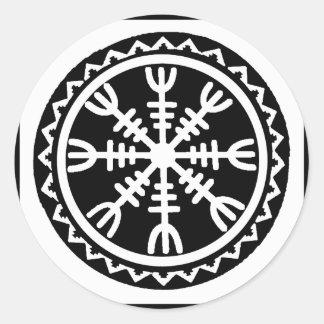 Viking Helm of Awe Classic Round Sticker