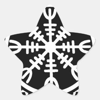Viking Helm of Awe Star Sticker