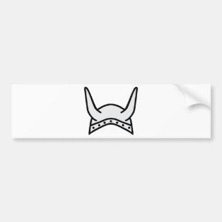 viking helmet icon bumper sticker