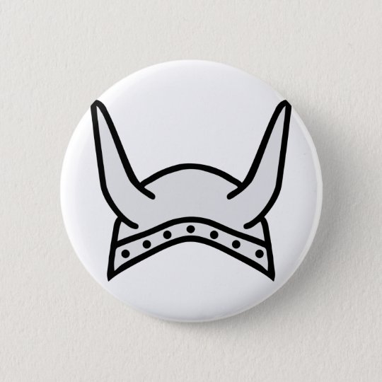 viking helmet icon pinback button
