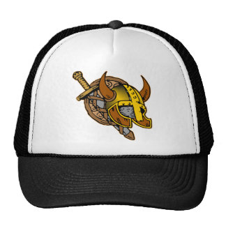 Viking Helmet, Sword & Shield Tattoo Trucker Hat