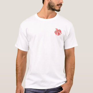 Viking Huscarl Black and White Red Axes Shirt