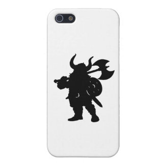 Viking in Silhouette, with axe over shoulder iPhone SE/5/5s Cover